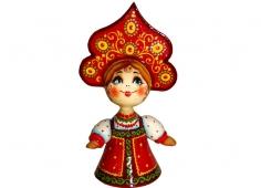 Девушка в красном сарафане